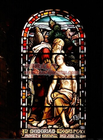教堂的彩窗画7