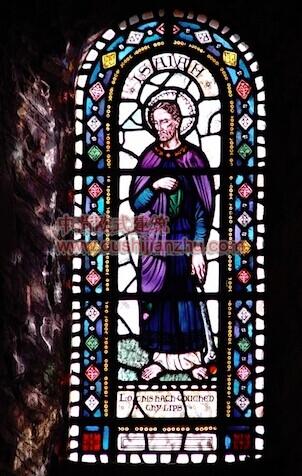 教堂的彩窗画5