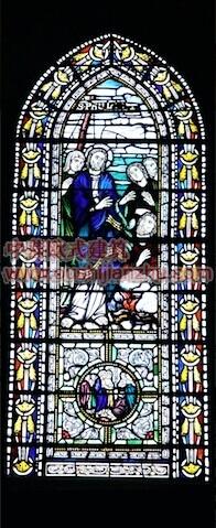 教堂的彩窗画2