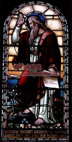 教堂的彩窗画10