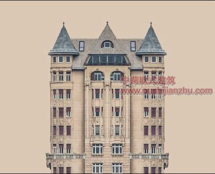 欧式风格住宅楼经典建筑造型6