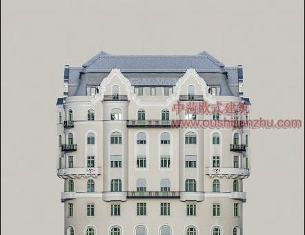 欧式风格住宅楼经典建筑造型5