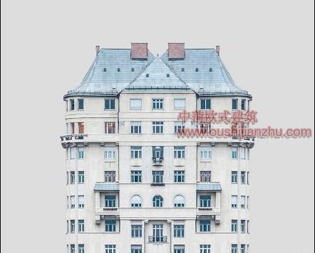 欧式风格住宅楼经典建筑造型4