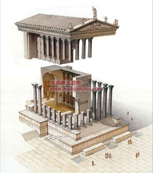 古建筑结构剖面2